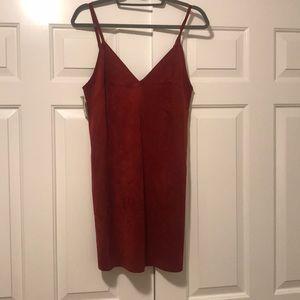 Brand new Aritzia faux suede dress!